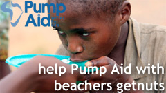 help Pump Aid with beachers getnuts